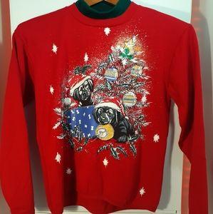 BASIC EDITIONS Christmas Sweatshirt